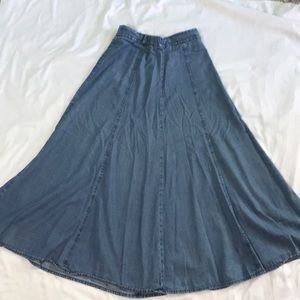 Women's Jean Flowy Skirt